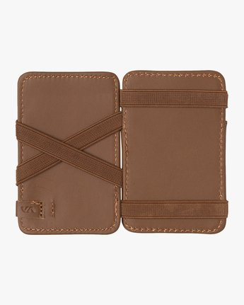 2 LEATHER MAGIC WALLET Beige MAWA2RML RVCA
