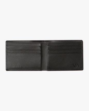 4 Crest Bifold Wallet Black MAWAQRCB RVCA