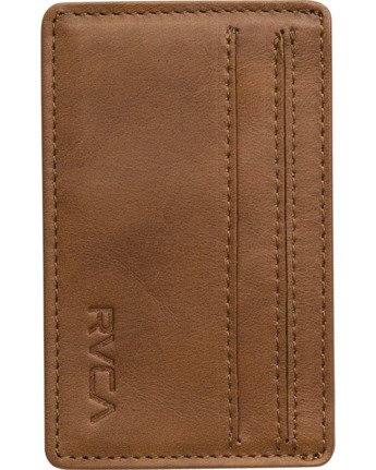 0 Clean Card Wallet Beige MAWAQRCW RVCA