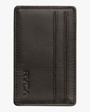 0 Clean Card Wallet Black MAWAQRCW RVCA