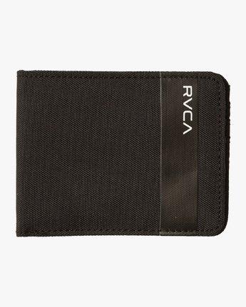 2 Leeward Bi-Fold Wallet Black MAWAQRLW RVCA