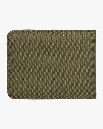 2 Leeward Bi-Fold Wallet Green MAWAQRLW RVCA