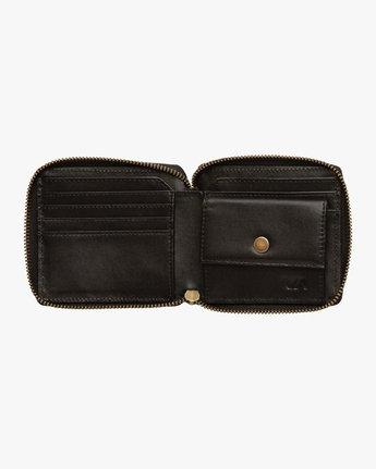 4 Zip Around Wallet Black MAWAQRZA RVCA