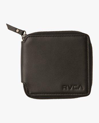 2 Zip Around Wallet Black MAWAQRZA RVCA