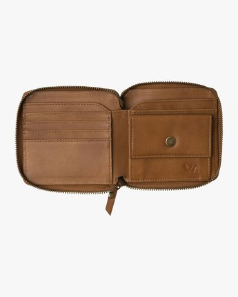 1 Zip Around Wallet Beige MAWAQRZA RVCA