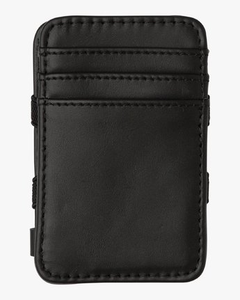 5 Leather Magic Wallet Black MAWASRML RVCA