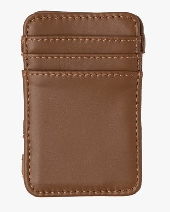 5 Leather Magic Wallet Beige MAWASRML RVCA