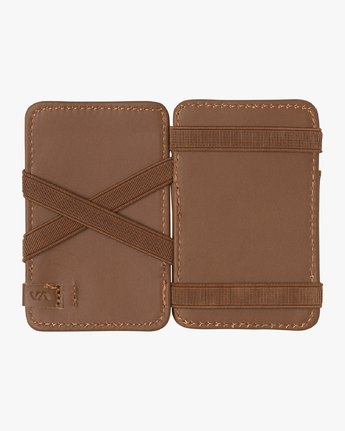 4 Leather Magic Wallet Beige MAWASRML RVCA