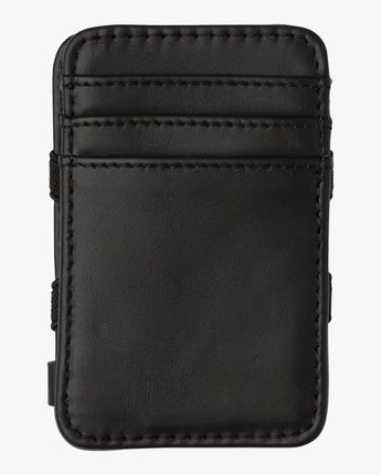1 Leather Magic Wallet Black MAWASRML RVCA
