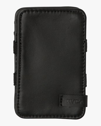0 Leather Magic Wallet Black MAWASRML RVCA