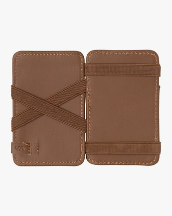 2 Leather Magic Wallet Beige MAWASRML RVCA