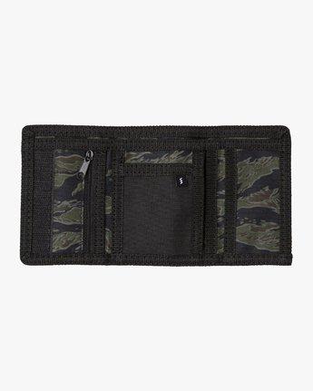 1 RVCA Print Trifold Wallet Grey MAWASRPT RVCA