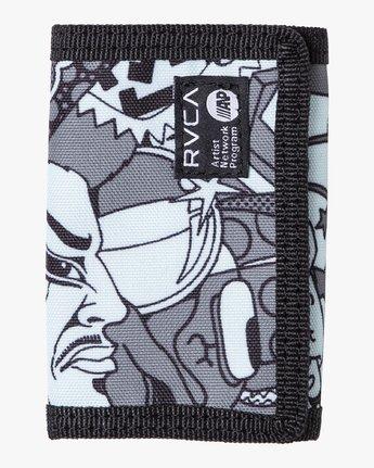 0 RVCA Print Trifold Wallet Green MAWASRPT RVCA