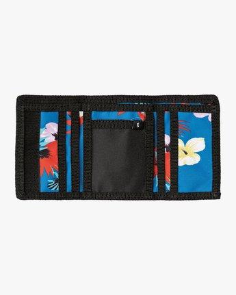 2 RVCA Print Trifold Wallet Blue MAWASRPT RVCA