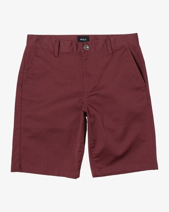 "0 week-end 20"" STRETCH SHORTS Red MC202WKS RVCA"