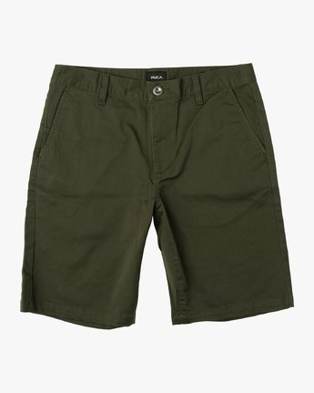 0 Week-End Stretch Shorts Green MC202WKS RVCA