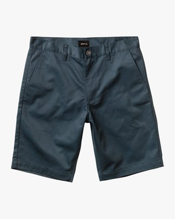 "0 week-end 20"" STRETCH SHORTS Blue MC202WKS RVCA"