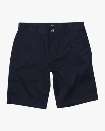 "1 week-end STRETCH SHORTS 20"" Blue MC202WKS RVCA"