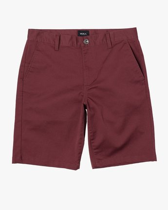 "1 week-end 20"" STRETCH SHORTS Red MC202WKS RVCA"