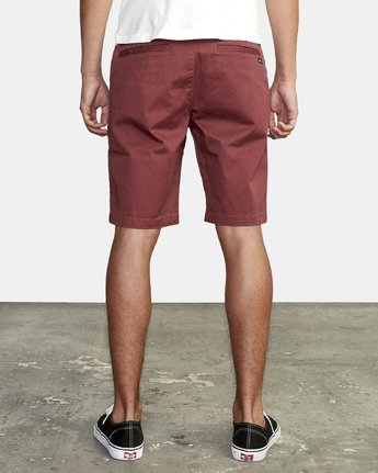 "8 week-end 20"" STRETCH SHORTS Red MC202WKS RVCA"