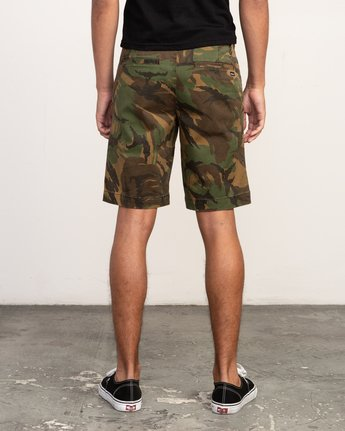"4 WEEKEND 20"" STRETCH SHORTS Brown MC202WKS RVCA"