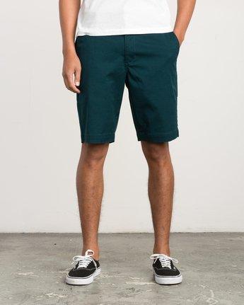 1 Week-End Stretch Shorts Green MC202WKS RVCA