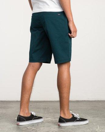 5 Week-End Stretch Shorts Green MC202WKS RVCA