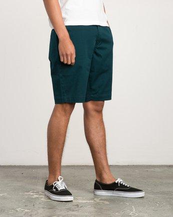 6 Week-End Stretch Shorts Green MC202WKS RVCA