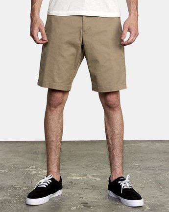 "1 WEEKEND 20"" STRETCH SHORTS Grey MC202WKS RVCA"