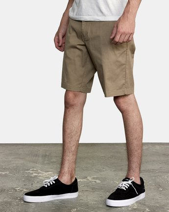 "4 week-end 20"" STRETCH SHORTS Grey MC202WKS RVCA"