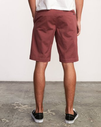 4 Week-End Stretch Shorts Purple MC202WKS RVCA