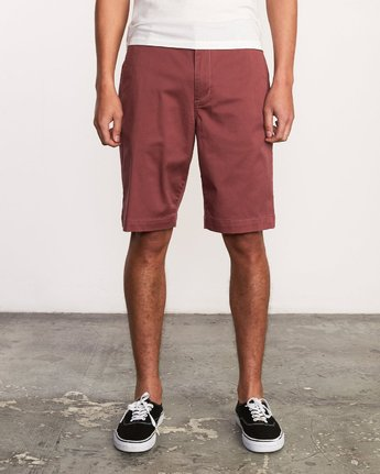 1 Week-End Stretch Shorts Purple MC202WKS RVCA