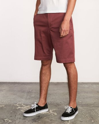 2 Week-End Stretch Shorts Purple MC202WKS RVCA