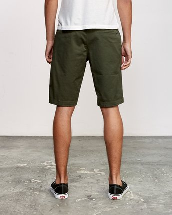 "4 WEEKEND 20"" STRETCH SHORTS Green MC202WKS RVCA"