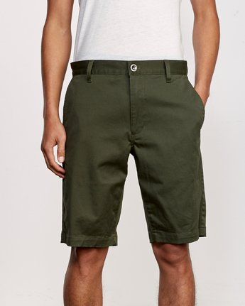 "7 WEEKEND 20"" STRETCH SHORTS Green MC202WKS RVCA"