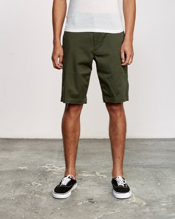 "1 WEEKEND 20"" STRETCH SHORTS Green MC202WKS RVCA"