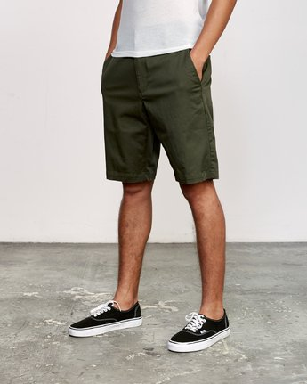2 Week-End Stretch Shorts Green MC202WKS RVCA