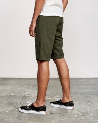 "3 WEEKEND 20"" STRETCH SHORTS Green MC202WKS RVCA"