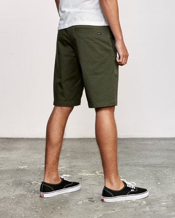 "5 WEEKEND 20"" STRETCH SHORTS Green MC202WKS RVCA"