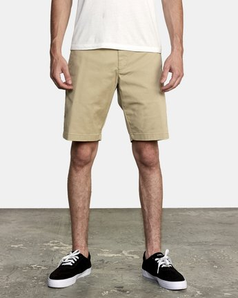 "1 WEEKEND 20"" STRETCH SHORTS Beige MC202WKS RVCA"