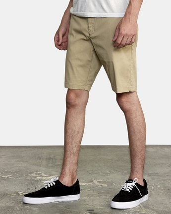 "2 WEEKEND 20"" STRETCH SHORTS Beige MC202WKS RVCA"