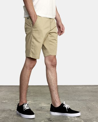 "3 WEEKEND 20"" STRETCH SHORTS Beige MC202WKS RVCA"