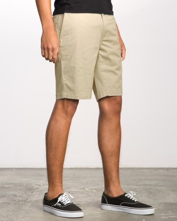 "4 WEEKEND 20"" STRETCH SHORTS Beige MC202WKS RVCA"