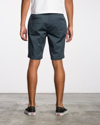 "4 WEEKEND 20"" STRETCH SHORTS Blue MC202WKS RVCA"