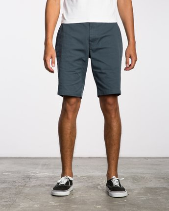"1 week-end 20"" STRETCH SHORTS Blue MC202WKS RVCA"