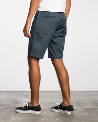 3 Week-End Stretch Shorts Blue MC202WKS RVCA
