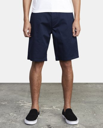 "2 week-end STRETCH SHORTS 20"" Blue MC202WKS RVCA"