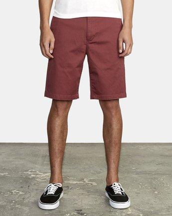 "2 week-end 20"" STRETCH SHORTS Red MC202WKS RVCA"