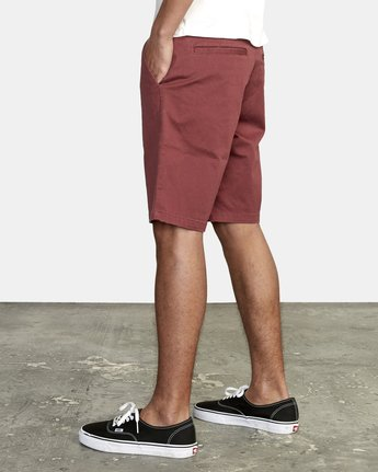 "5 week-end 20"" STRETCH SHORTS Red MC202WKS RVCA"