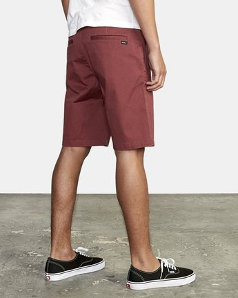 "6 week-end 20"" STRETCH SHORTS Red MC202WKS RVCA"